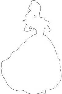 Belle Disney Princess Silhouette Outline