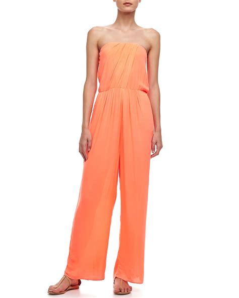 fabulous and jumpsuit fabulous strapless wideleg jumpsuit in