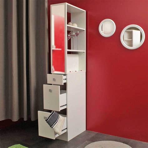 colonne salle de bain but colonne salle de bain 3 tiroirs 1 miroir blanc 6010a2121a17 achat vente armoire salle de