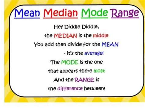 riddle median mode range