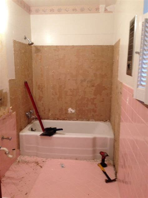Removing Bathroom Floor Tiles by How Do I Remove The Adhesive From 1950 S Pink Wall Tiles