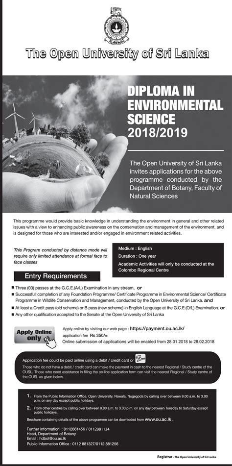 diploma  environmental science   open