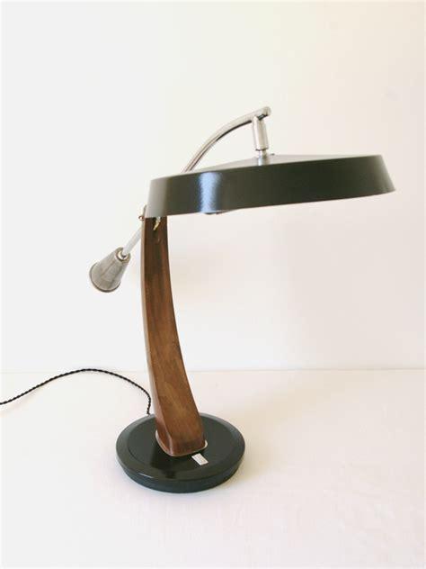 bureau style le de bureau en bois et métal jpg luminaires