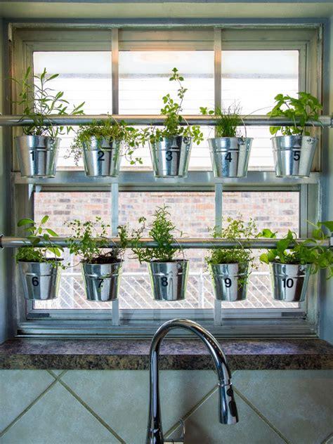 Window Herb Garden do it yourself window mounted hanging herb garden hgtv