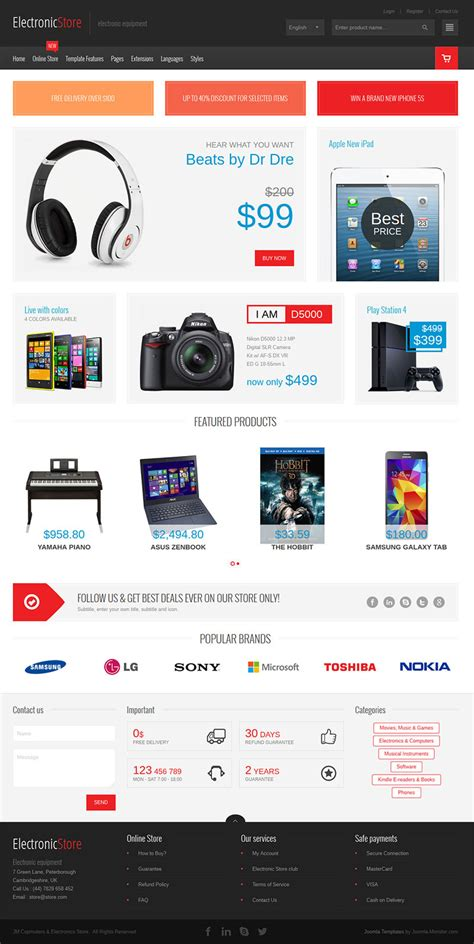 computer store muse template electronics multipurpose virtuemart online store by