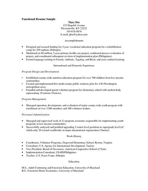 resume volunteer experience elementary school