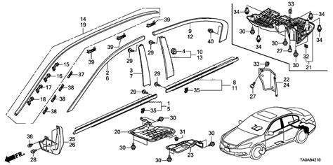 Honda Fit Diagram by 91572 Sda A01 Genuine Honda Clip Roof Molding