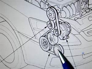 2003-2007 Honda Accord Serpentine Belt Replacement  2003  2004  2005  2006  2007