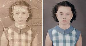 Timelapse video of a black white portrait restored and for Photo retouching joaquin villaverde