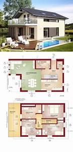 Modernes Haus Grundriss : modernes haus mit satteldach fertighaus grundriss edition 4 v3 bien zenker ~ Bigdaddyawards.com Haus und Dekorationen