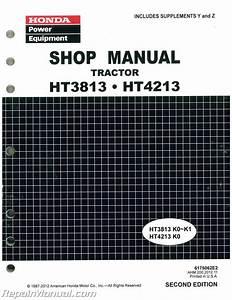 Honda Ht3813 Ht4213 Lawn Tractor Shop Manual   6175062e3