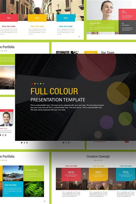 Full Color Presentation PowerPoint Template #69230