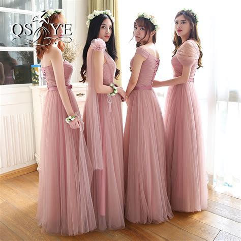 Aliexpress.com : Buy Vintage Dusty Pink Long Bridesmaid