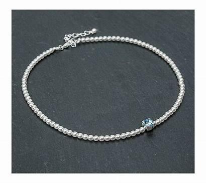 Aquamarine Bracelet Mariage Tessa Collier Oreilles Boucles