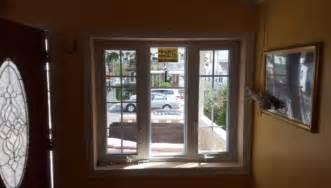 welded vinyl double hung   glass argon gas tilt  replacement windowsinternal blinds