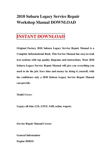 how to download repair manuals 1991 subaru legacy on board diagnostic system 2010 subaru legacy service repair workshop manual download
