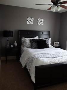 Purple grey guest bedroom designs decorating
