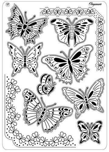 pergamano parchment craft multi grid  butterflies