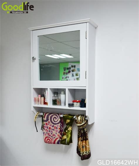 Mirrored Bathroom Storage by Wall Mounted Wooden Mirrored Bathroom Storage Cabinet