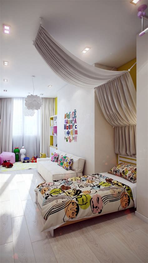 crisp  colorful kids room designs