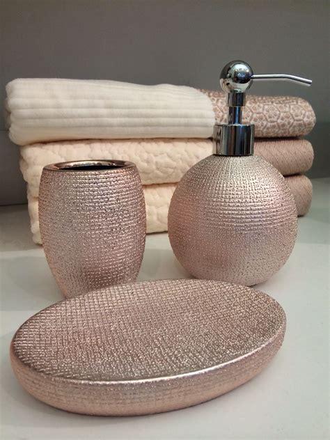 rose gold bathroom accessories  homegoods  marshalls
