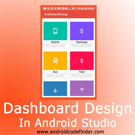 dashboard design android studio android code finder