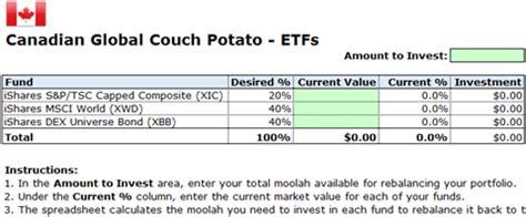 Rebalance Your Couch Potato Portfolio With These Free