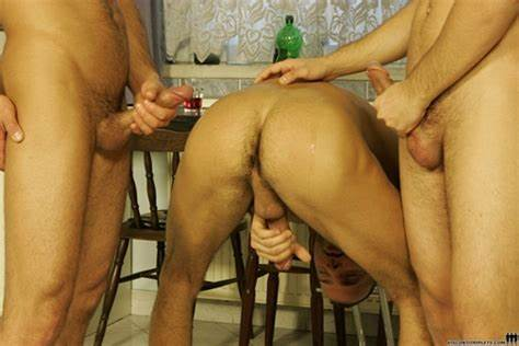 Teeny Cous Strokes Fit Bent Penis Visconti Triplets And Joe Justice In Pretty Triplet Gangbang