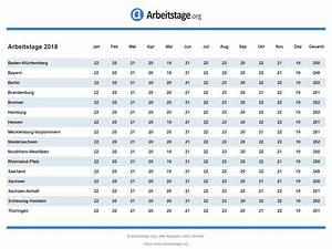 Excel Feiertage Berechnen : arbeitstage 2018 in deutschland ~ Themetempest.com Abrechnung