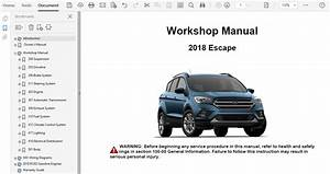 2018 Ford Escape Repair Manual