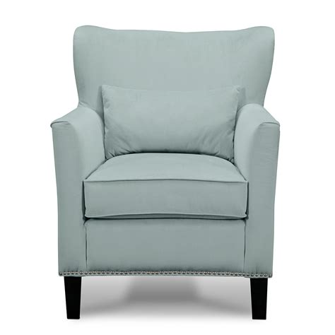 furniture light blue accent chair with back and arms