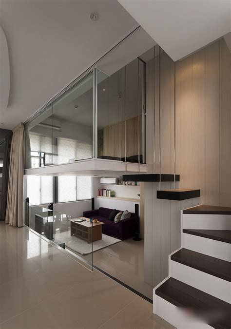 modern small apartment  loft bedroom