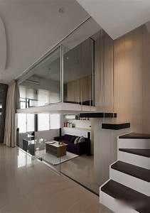 Modern, Small, Apartment, With, Open, Plan, And, Loft, Bedroom