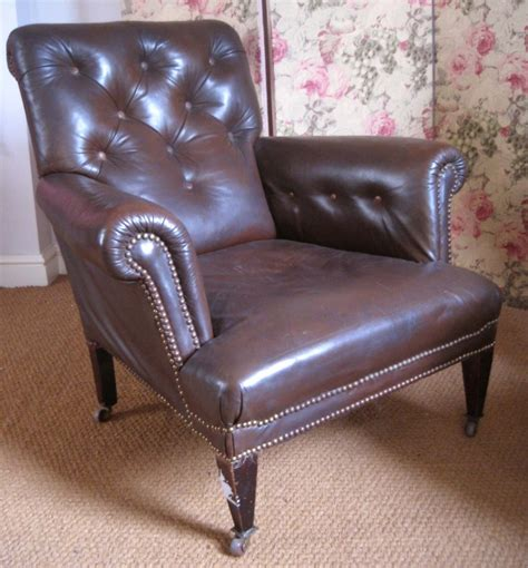 edwardian antique leather reading chair leather chairs