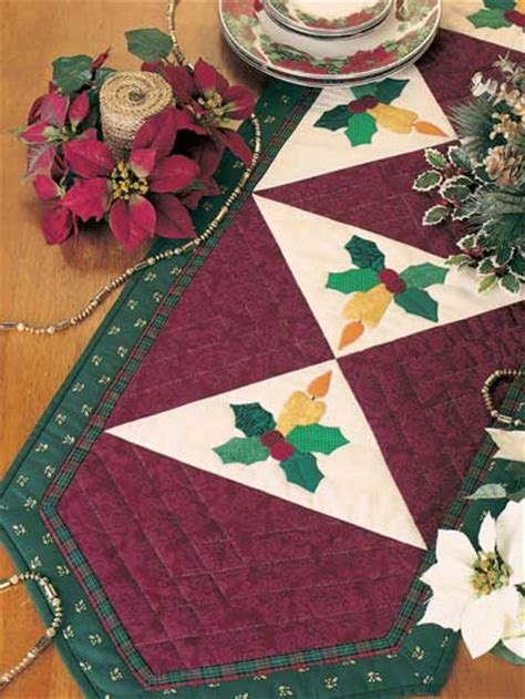 christmas table runner ii  quilting pattern