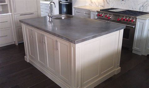 zinc top kitchen island cast zinc kitchen island chicago traditional kitchen 1710