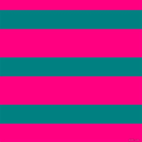 Deep Pink And Aqua Horizontal Lines And Stripes Seamless