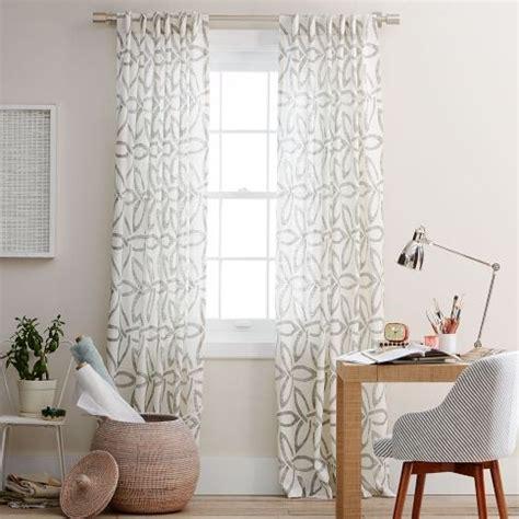 west elm linen curtains pinwheel linen window panel white slate west