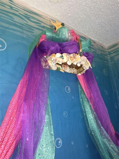 mermaid bed canopy bed in 2019 mermaid bedroom