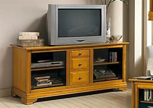Meuble Tv Hifi : acheter votre meuble tv hifi 3 tiroirs chez simeuble ~ Teatrodelosmanantiales.com Idées de Décoration
