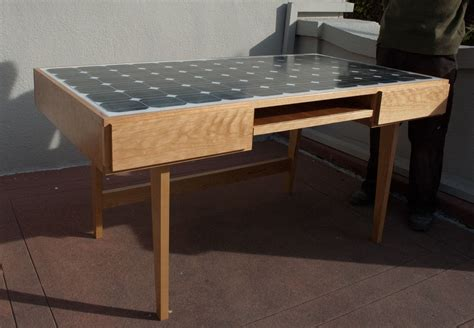 Solar Desk by Custom Solar Panel Desk By Sawn Custom Woodwork
