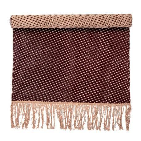 tapis descente de lit bloomingville tapis descente de lit coton bordeaux 60 x 120 cm