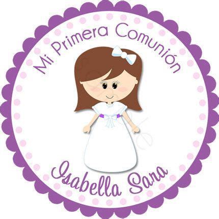 personalized my communion stickers por partyink comunion