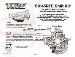 Transgo 45rfe Pump Mod Instructions