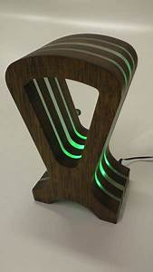 Hardwood Headphone Stand With Rgb Led U0026 39 S