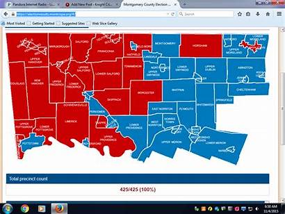 Election Results County Montgomery Map Board Diasio