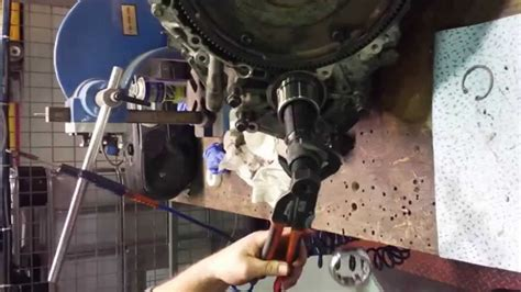 volvo angle gear collar removal easy youtube