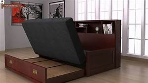 Sofa bed design wooden sofa come bed design buy wooden for Wooden sofa come bed design