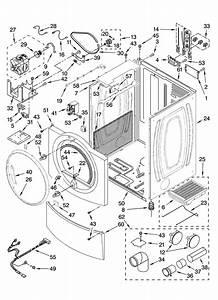 Kenmore Elite He4 Gas Dryer Parts Diagram