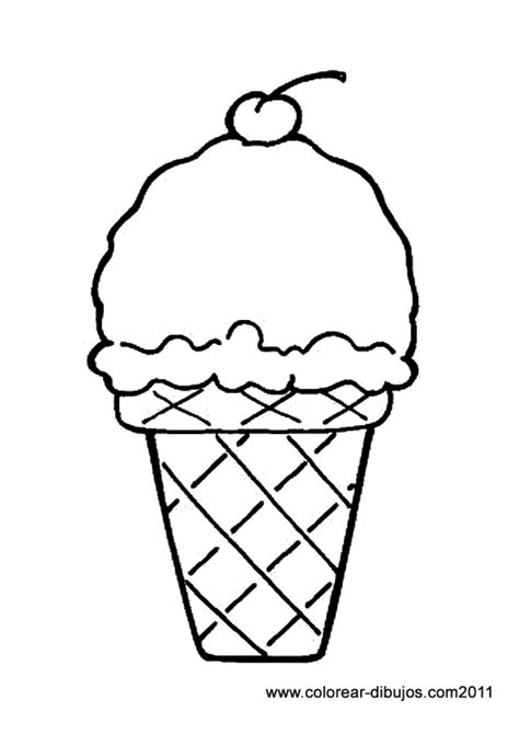cherry ice cream cone printable  coloring picture